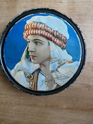 Rare Canco Beautebox Rudolph Valentino By Henry Clive 1920s Tin
