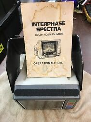 Interphase Spectra 12vdc Fish Finder And Depth Locator Not Tested For Parts R9