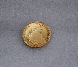 1803 Madrid 4 Escudos Charles Iv Spanish Gold Coin Doubloon Xf/au