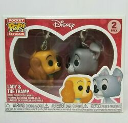 Funko Disney Treasures Exclusive Lady And The Tramp Pocket Pop Keychains Set