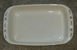 Longaberger Traditional Red 9x13 Casserole/baking Dish. Made In The Usa