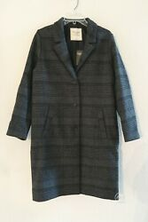 Nwt Abercrombie And Fitch Womenand039s The Aandf Dad Coat Grey Plaid Size M L