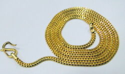 22k Gold Double Box Chain Necklace Fine Jewelry Free Shipping