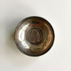 Antique Sterling Cup Wine Tasting Cup W George 2 Coin Inset Center