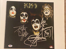 Kiss Signed/autographed Album Psa/dna Full Letter Signed By 3 🔥🔥🔥🔥