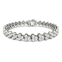 Moissanite By Charles And Colvard 2.5mm Round Tennis Bracelet, 2.41cttw Dew