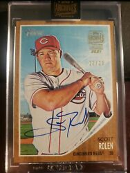 2021 Topps Archives Signature Scott Rolen On Card Auto D /29 2013 Heritage Reds