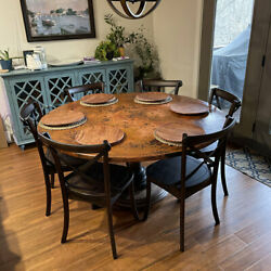 60 Round Hammered Copper Table Top Conference Room Luxury Table Antimicrobial