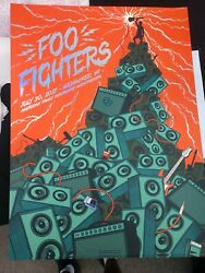 Foo Fighters Foil Poster Milwaukee Wi.