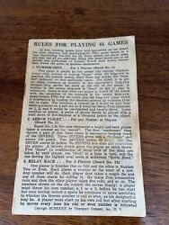 Transogram Game Instructions - 44 Games - Year 1939