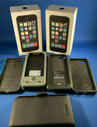 2 Apple Iphone 5s - 32gb - Space Gray Atandt A1533 Gsm Plus Extras
