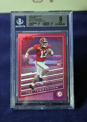 Tua Tagovailoa 2020 Panini Chronicles Dp Absolute 3 Spectrum Red Rc Rookie Bgs 9