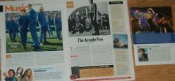 Arcade Fire Full Paged Magazine Celebrity Clippings Photos Article