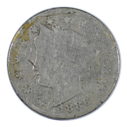 1886 Liberty Head Nickel About Good Condition
