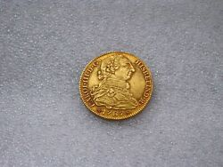 1787 Madrid 4 Escudos Charles Iii Spanish Gold Coin Doubloon Au++