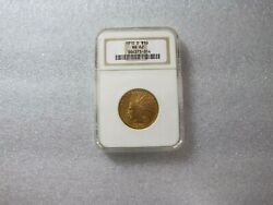 1910 D 10 Dollars Gold Indian Head Eagle Coin Ngc Ms - 62