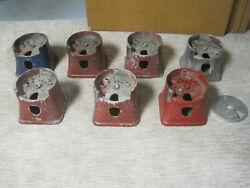 Lot Of 7 Silver King Gumball Peanut Machine Body Section Parts 1940and039s