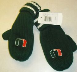Miami Hurricanes Kids Youth Winter Gloves Mittens Embroidered U Logos New Ncaa