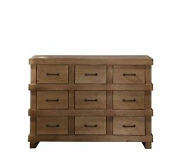 32 Tall Antique Oak Dresser With 9 Drawers