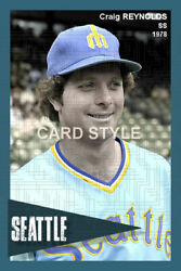 Craig Reynolds 1978 Seattle Mariners choose a size colorized print