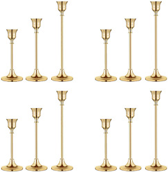 Candlestick Holders Taper Candle Holders Brass Gold Candlestick Holder Set3 Pc