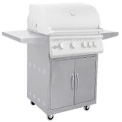 Bbq Stainless Steel 5 Burner 40and039and039 Grill Cart Combo For Outdoor Kitchen Propane