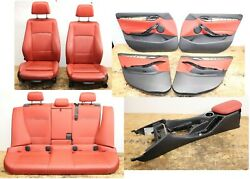 All Interior Front Rear Seats Door Panels Console Oem Bmw E84 Heated Coral Red