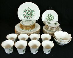 Lenox Holly And Berries Special L5 Dimension Shape 5 Pcs Dinnerware Set For 8