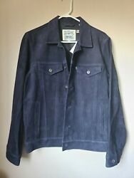 Made And Crafted Made In Italy Goat Suede Jacket Size Medium