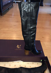 Rare Womenand039s New Signature Vince Camuto Vi-kylar Leather Fashion Boots 8m Us