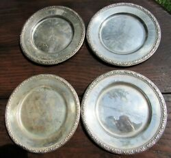 Sterling Silver 6 Bread Plates By International Prelude Set Of Four 13 Oz