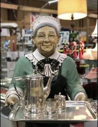 6' Life Size Old Elderly Lady Butler Housekeeper Maid Resin Statue Prop Display