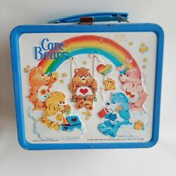 Vintage 1983 Aladdin Care Bears Metal Lunch Box No Thermos