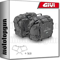Givi Side Bags Canyon Grt720 + Side-case Holder Honda Africa Twin 750 2002 02