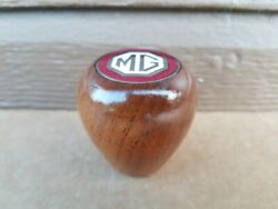 Vintage Wooden Wood Mg Gear Shift Knob Handle Used