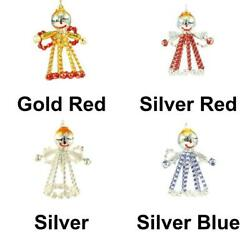 Silver Angel Czech Bohemian Christmas Tree Gift Ornaments Glass Beads Project...