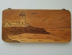 Stage Neck Inn York Harbor Maine Hand Carved Wooden Light House Picture 1982