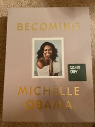 Michelle Obama Signed Deluxe Edition Book Becoming President Barack Obama Biden