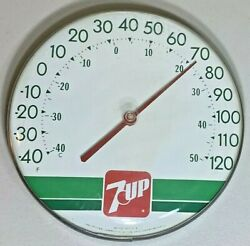 Vintage 7-up Advertising Thermometer Original Jumbo Dial Ohio Thermometer Co
