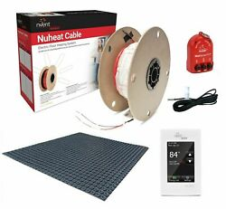 Nuheat Radiant Floor Heat Kit With Membrane, Thermostat, Cable And Safety Tools