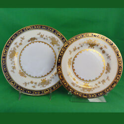 Minton Dynasty Salad Plate 8 And Bread And Butter 6.5 New Never Used Made England