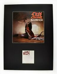 Ozzy Osbourne Signed Autographed Matted Vinyl Record Album Lp And Card Jsa Coa