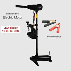 12v-65 Lbs Boat Electric Trolling Motor Engine By Dc Battery Driven Propeller