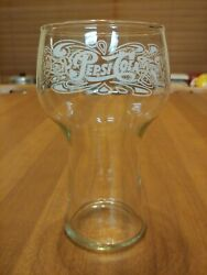Pepsi-cola Vintage Fountain Drinking Soda Glass Tumbler Bell Shape White Letters