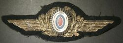 Rare Wwii Officer's Cap Badge Of Vlasov's Russian Liberation Army Air Force 1944