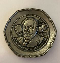 President William Howard American Collectors Guild Pewter Mini Plate