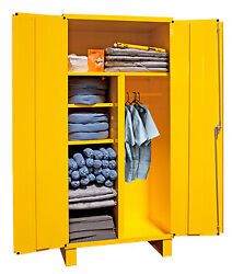 Durham 3501-hdl-50, Spill Control Cabinet W/ Wardrobe Storage And 5 Shelves