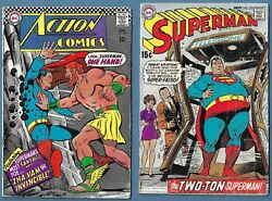 5 Old Superman Related Comic Books + Kid Colt Outlaw 121
