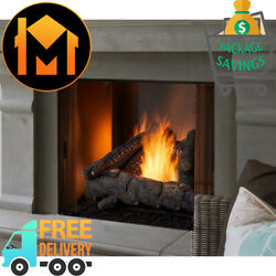 Majestic Courtyard Outdoor Gas Fireplace 36 Odcoug-36 Stainless Steel Interior