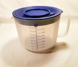 Tupperware 1629 Large Mix-n-stor Measuring 8 Cup 2 Qt. L10 W33